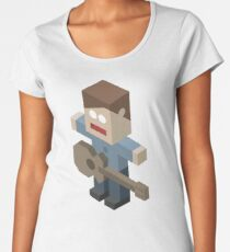 Isometric Guitarist Women's Premium T-Shirt