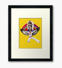 Elvis Brings Forth the Jukebox from the Rainbow in His Magnificent Wings Framed Print