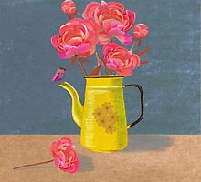 Yellow kettle filled with love by DebiHudson