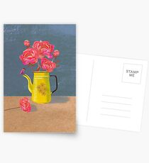 Yellow kettle filled with love Postcards
