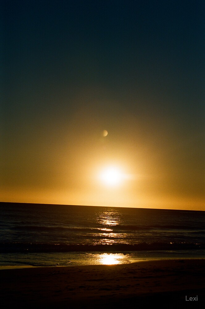 Moon Reflected Sunset by Lexi