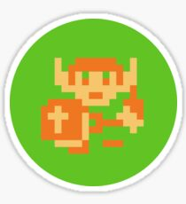 8-bit hero Sticker