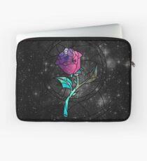 Buntglas-Rosen-Galaxie Laptoptasche