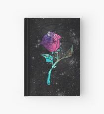 Stained Glass Rose Galaxy Hardcover Journal