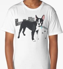 Attack of the Colossal Boston Terrier!!! Long T-Shirt