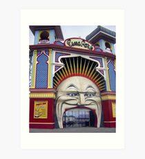 Photograph : Luna Park, Just for Fun!  St. Kilda, Melbourne Art Print