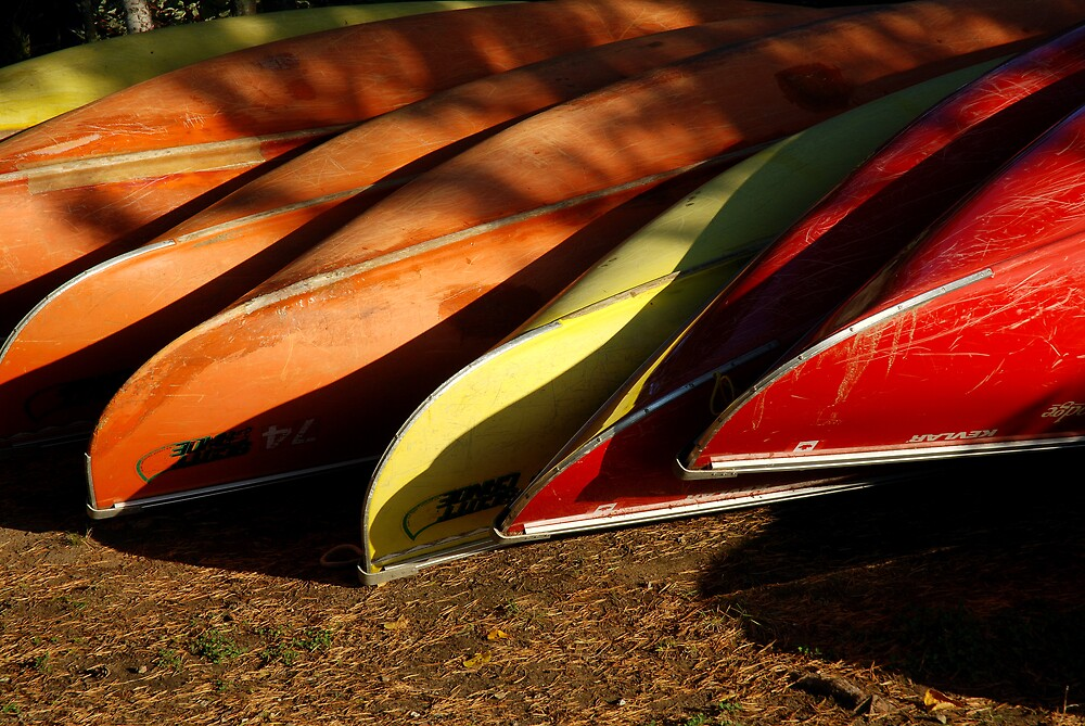 canoes at rest by bertspix