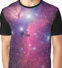 Purple Galaxy Graphic T-Shirt