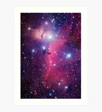 Lámina artística Galaxia púrpura