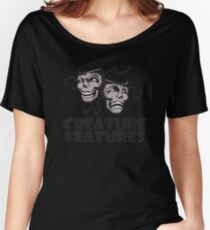 Gray Drama Mask Women's Relaxed Fit T-Shirt