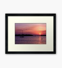 Ocracoke Island Harbor at Sunset Framed Print