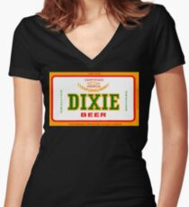 DIXIE BEER OF NEW ORLEANS Fitted V-Neck T-Shirt