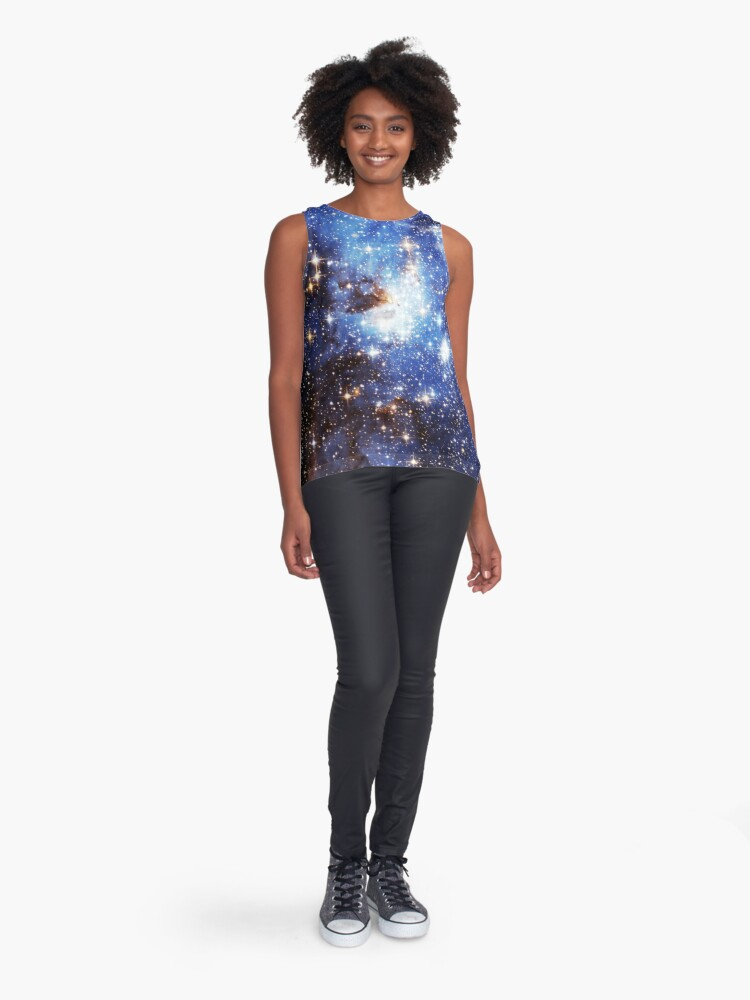 Alternative Ansicht von Blaue Galaxie 3.0 Ärmelloses Top