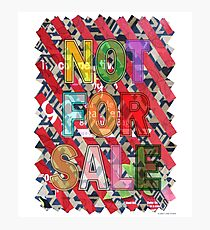 NOT FOR SALE 05 Photographic Print