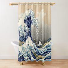Cortina de ducha Gran ola