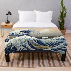 Große Welle Fleecedecke