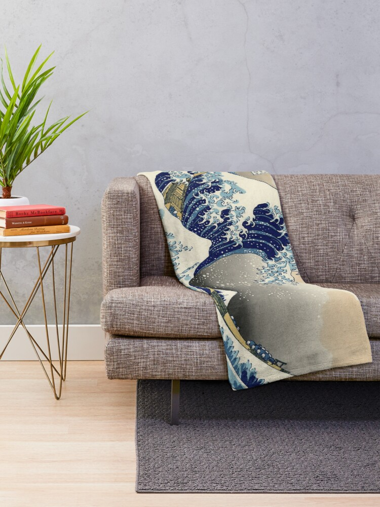 Alternate view of Great Wave Throw Blanket