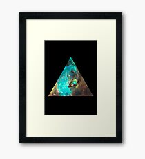 Green Galaxy Triangle Framed Print