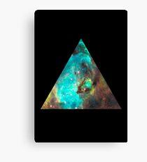 Lienzo Triángulo verde de la galaxia