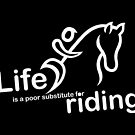 Riding v Life - Sticker by Ron Marton