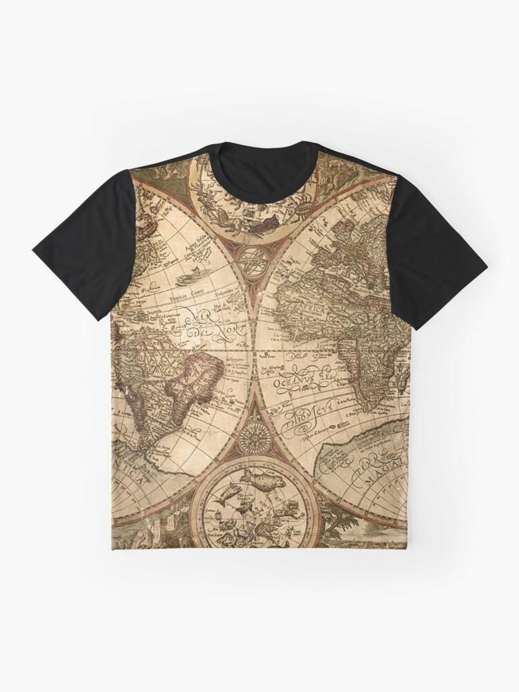 Alternative Ansicht von Alte Karte Grafik T-Shirt