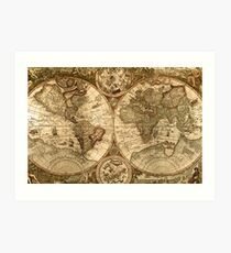 Ancient Map Art Print
