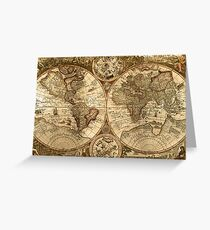 Ancient Map Greeting Card