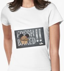 Fresh Baked Muffin on Chalk Women's Fitted T-Shirt