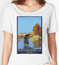 Fontainebleau Avon France Vintage Travel Poster Women's Relaxed Fit T-Shirt