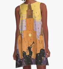 New Orleans The Big Easy Vintage Travel Poster A-Line Dress