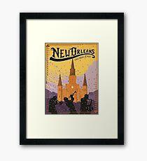 New Orleans The Big Easy Vintage Travel Poster Framed Print