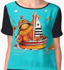 Catch of the Day Chiffon Top