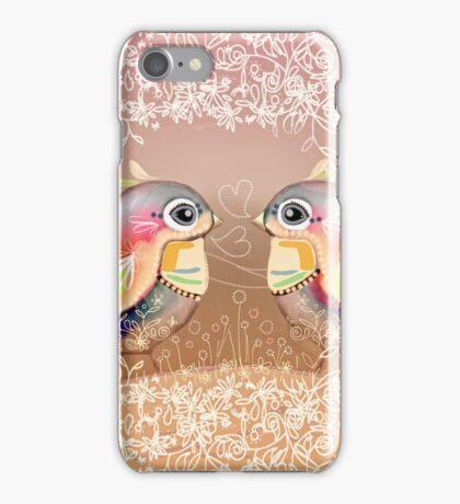 Exotic Peach Lovebirds iPhone Case/Skin