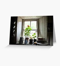 Still Life with Geraniums II Greeting Card