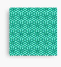 Mermaid Scales (Green) Canvas Print