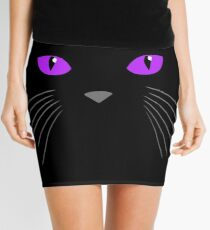 Cat face-Black cat Mini Skirt