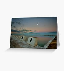 Merewether Baths at Dusk 8 Greeting Card