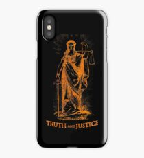 Truth and Lady Justice iPhone Case