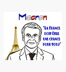 Emmanuel Macron, France's New President Design & Slogan Photographic Print