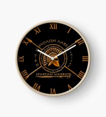 Spartan warrior - Molon lave and come back with your shield or on it Clock