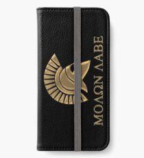 Molon labe-Spartan Warrior iPhone Wallet/Case/Skin