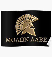 Molon labe-Spartan Warrior Poster