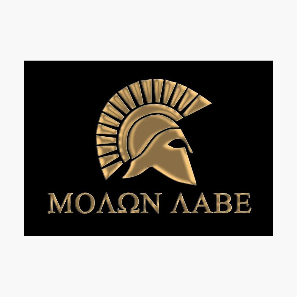 Molon labe-Spartan Warrior Lámina fotográfica