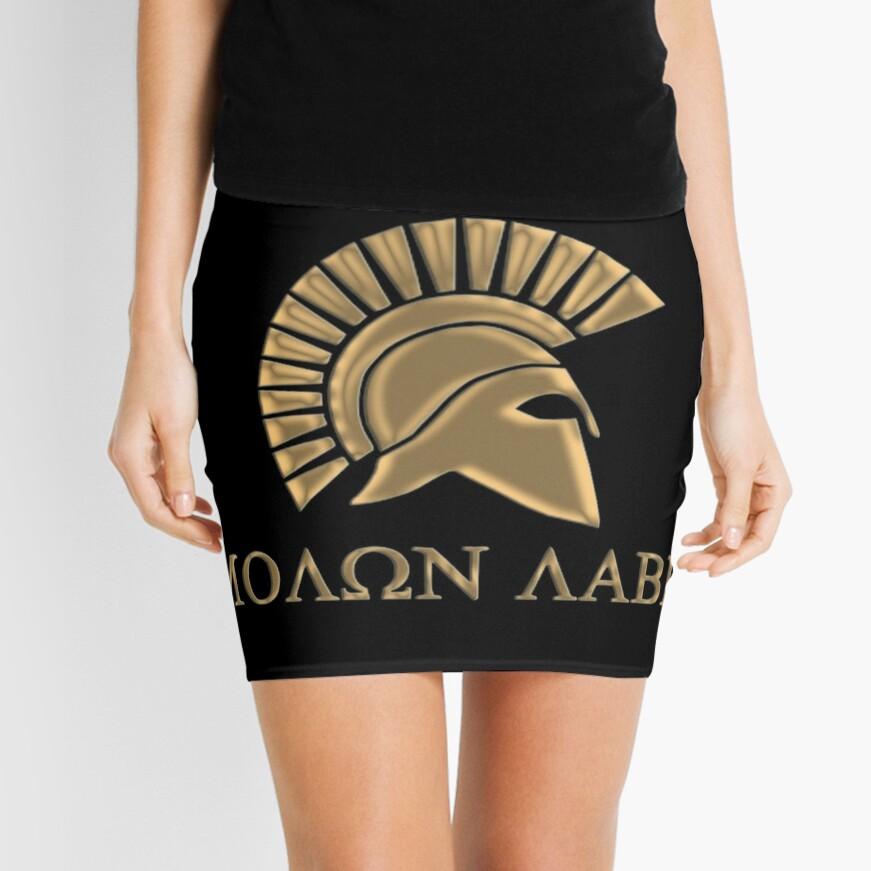 Molon labe-Spartan Warrior Minifalda