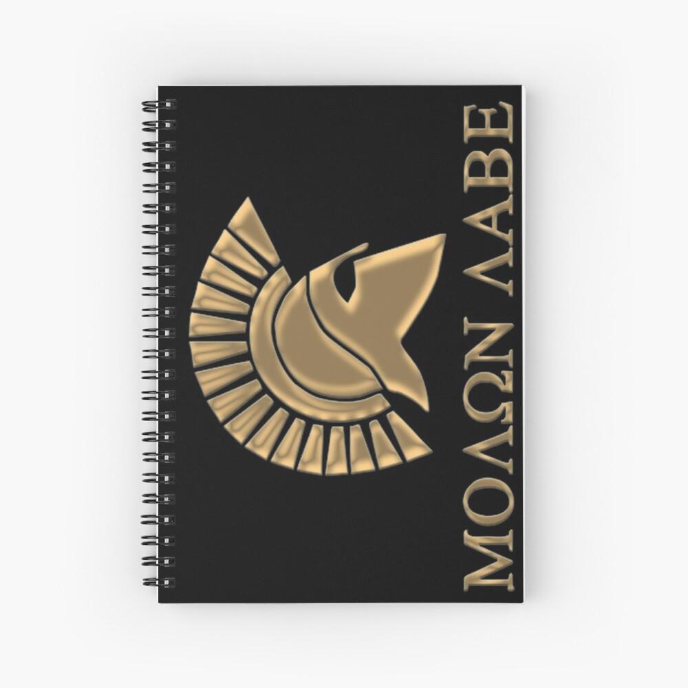 Molon labe-Spartan Warrior Cuaderno de espiral
