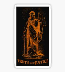 Truth and Lady Justice Sticker