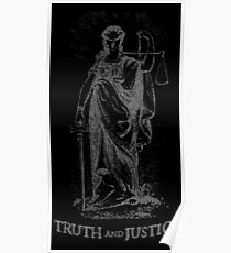 Truth and Lady Justice Silver Poster