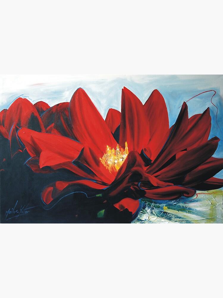Red Dahlia by melissamyartist