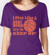 Female Basketball Design Women's Relaxed Fit T-Shirt