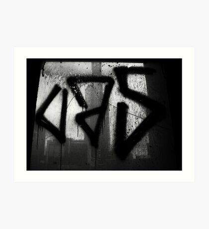 Juxtaposition (Eureka & Graffiti) Art Print